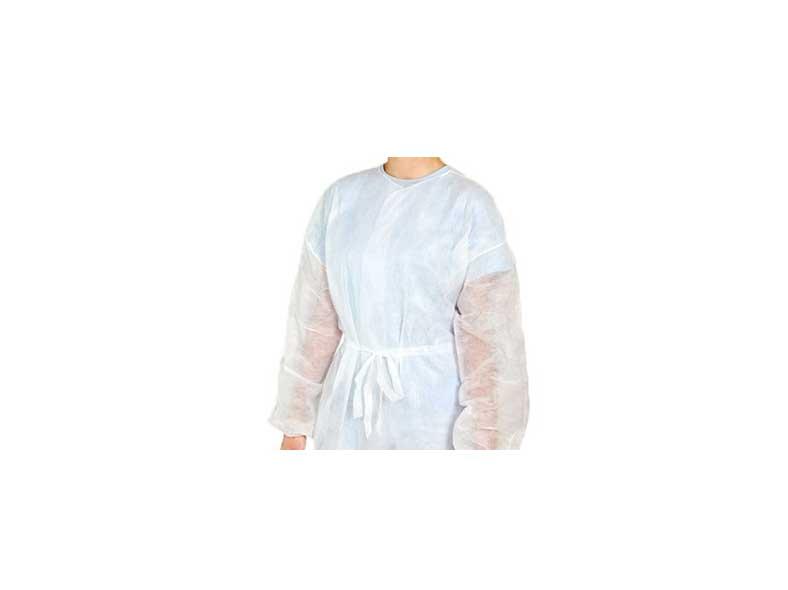 avental descartável manga longa em tnt da marca descarpack