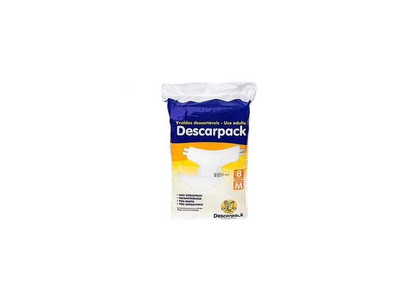 pacote de fralda geriátrica descartável da marca descarpack
