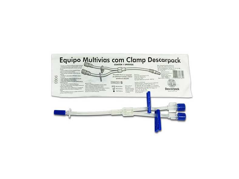 infusor duas vias descartável com clamp da marca descarpack